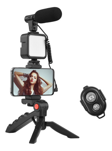 Imagen 1 de 10 de Andoer Teléfono Vlog - Kit De Vídeo Con Soporte Para Trípode