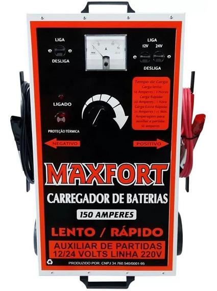 Carregador De Bateria 150a 12v/24v + Aux. De Partida Maxfort