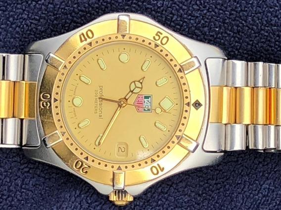 Reloj Caballero Tag Heuer Acero Inox Chapado En Oro De 18k