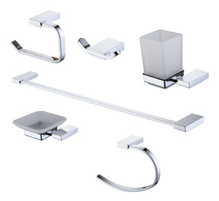 Kit De Accesorios Baño Toilette De 6 Piezas Peirano Linea 13000 - 13006 F