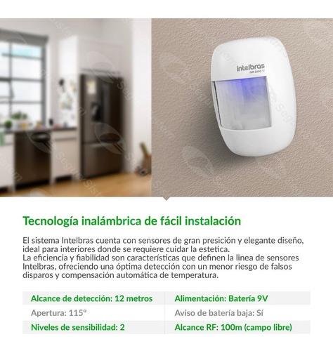 Kit Alarma Casa Intelbras Inalámbrica Sensores Domiciliaria