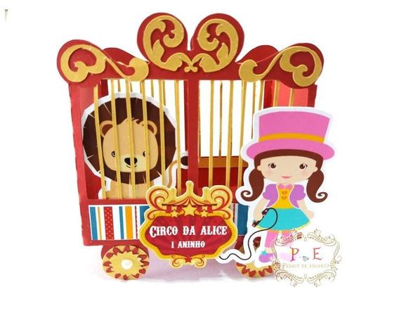 Circo Caixa Jaula Lembrancinhas Personalizadas 20 Unid