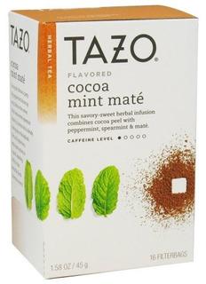 Tazo Tea Mate Cocoa Mint Una Caja De 16 Bolsitas De Té