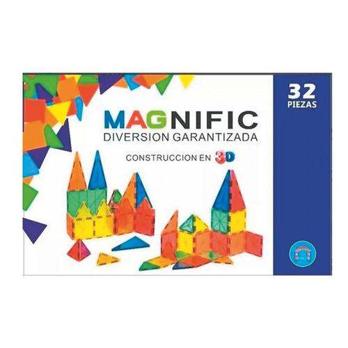 Imagen 1 de 4 de Bloques Magnéticos X 32 Piezas Magnific