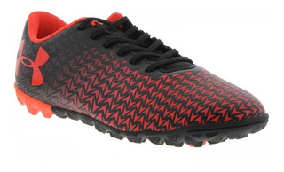 Chuteira Society Under Armour Force 3.0 Preta E Vermelhac/f