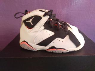 Air Jordan Retro 7 Blanco/negro 14 Cm