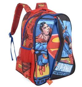 Mochila Infantil Superman Com Capa