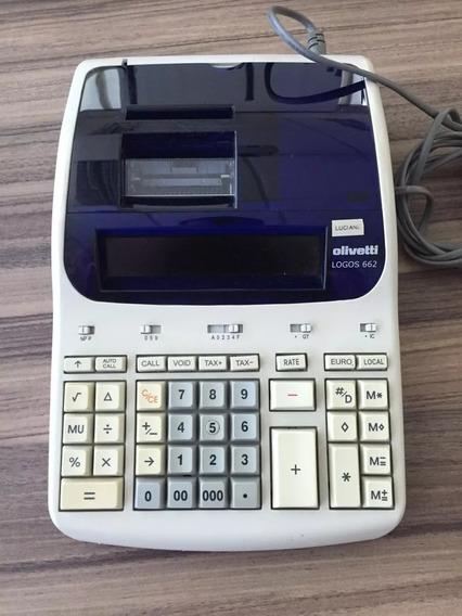 Maquina Calculadora Olivetti Logos 662 Semi-nova 110v