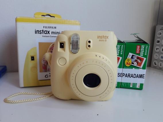 Instax Mini 8 + 37 Filmes + Caixa + Manual