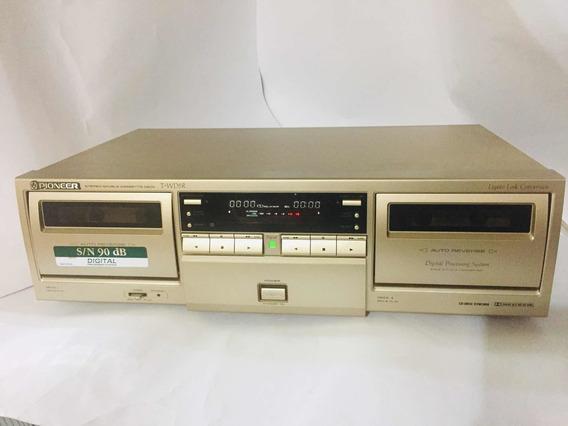 Tape Deck Pioneer T-wd5r - 1996 Toca Fitas Vintage Japan
