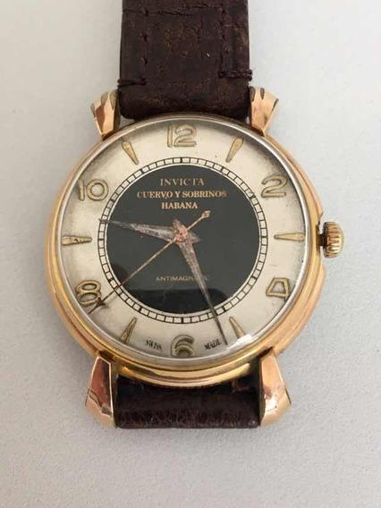 Reloj Antiguo Invita Cuervo Y Sobrinos Habana Mecanico