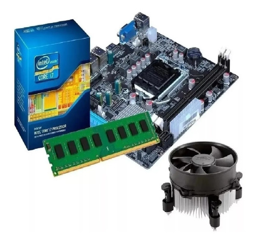 Kit Placa Mãe H61   Processador I7 3770 3,9 Ghz   16gb Ddr3