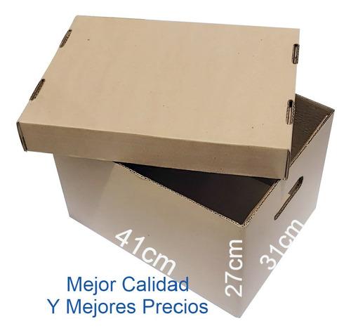 40 Cajas De Cartón Tapa Y Base Referencia X300 Archivo R.s