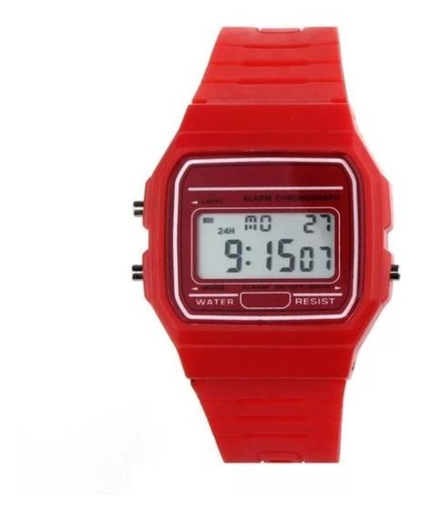 Kit 6 Relógio Digital Wr Retro 1 De Cada Cor
