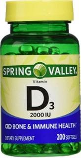 Vitamina D3 2.000 Ui 200 Softgels Spring Valley