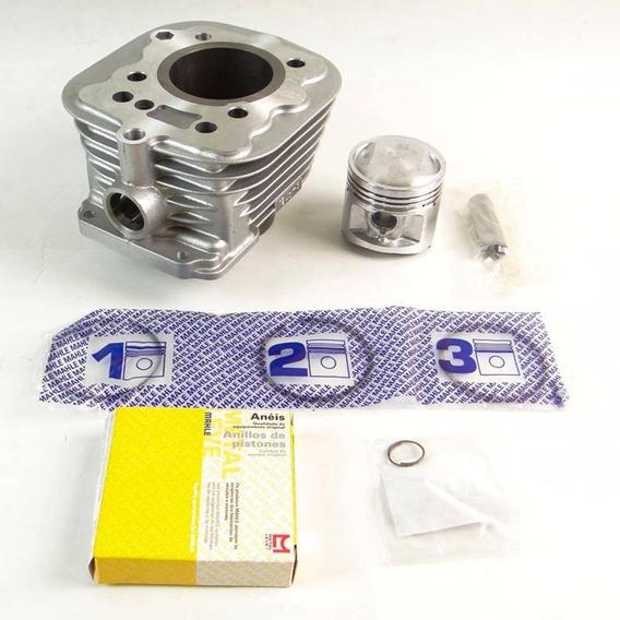 Kit Cilindro Motor Titan 125 02/04 Metal Leve + Ret. Válvula