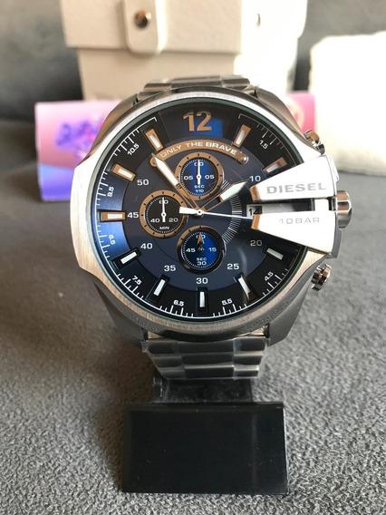 Relógio Diesel Dz4417 Prata Original Completo Com Caixa