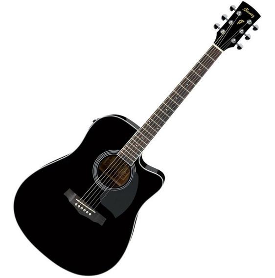 Guitarra Electroacústica Ibanez Pf15 Ece Bk Negro