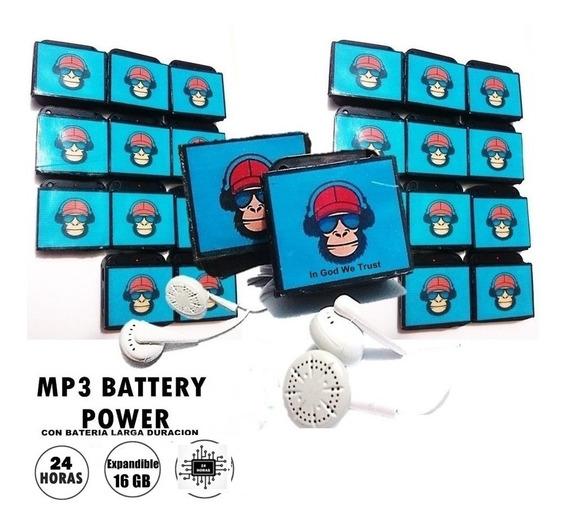Super Mono Mp3 Player + Bateria Extra Dura 24 Horas O Mas !