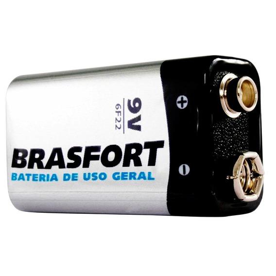 10 Pilhas Bateria 9v Brasfort - Ref. 6312 - Combo Com 10
