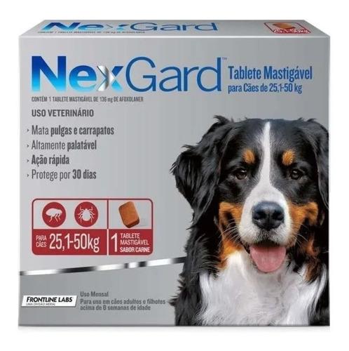 Nexgard 25-50 Kg Antipulgas E Carrapatos Merial Cães