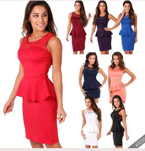 9db692148 Vestido Peplum - Vestidos de Mujer en Mercado Libre Chile