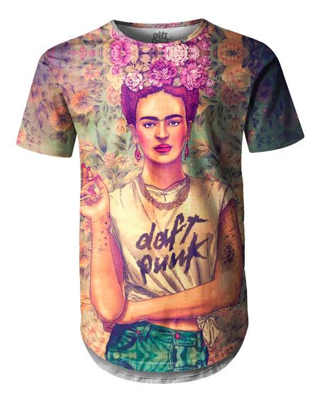 Camiseta Masculina Longline Oversized Frida Carlo Swag