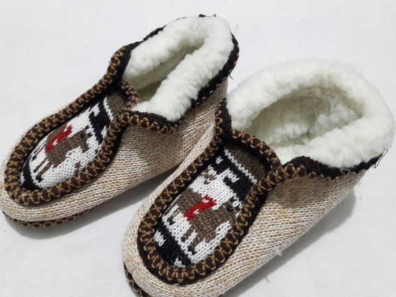 Pantuflas Norteñas Para Niños Con Corderito