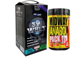 Whey Protein 2kg 5w Dark Insane + Anabol Pack Usa 30 Pack -