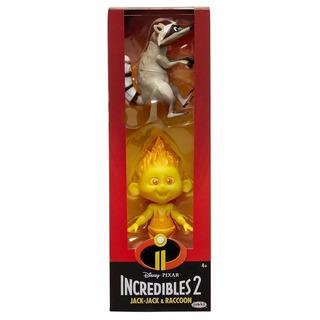 Los Increibles Pack X2 Figura Jack Jack Raccoon Disney Orig.