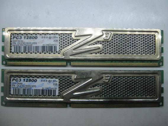 Memoria Ocz Ddr3 Pc3 12800 4gb 2x 2gb 1600mhz Dual Channel