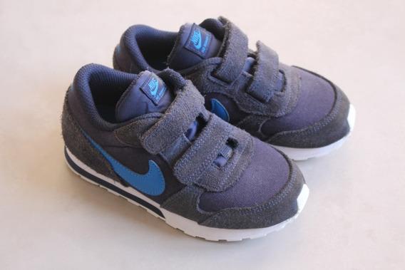 Tênis Infantil Nike Md Runner Azul Marinho Semi-novo
