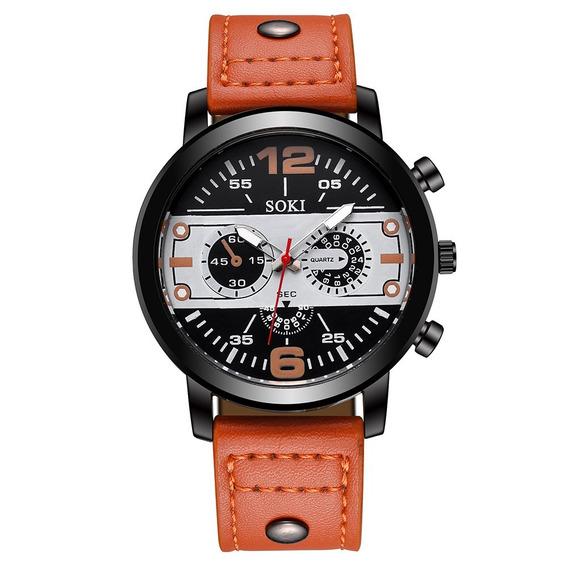Relógio Masculino De Pulso Social Quartz Importado Promoção