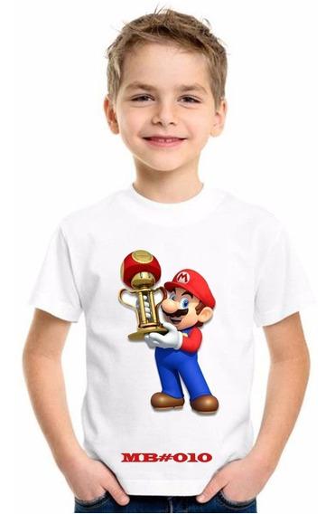 Franelas De Mario Bros Personalizadas