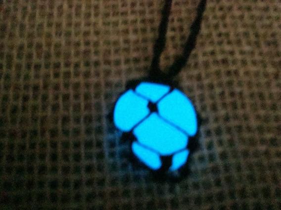 Colar Pedra Que Brilha No Escuro Azul 2 Colares
