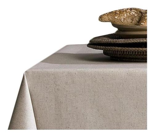 Mantel Rectangular 1.50 X 3.00 Mts Antimanchas Lino Natural