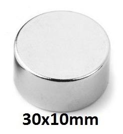6 Super Imã Neodímio 30x10mm - 30x10 N50 - 30 X 10