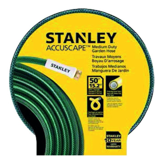 Manguera Riego 15mts Stanley Bds 6698 5/8 Con Acople 3/4