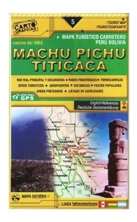 Mapa Rodoviário E Turístico Impresso Machu Pichu E Titicaca