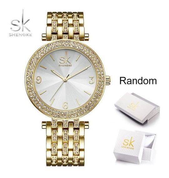 Relógio Feminino Luxo Jóia Sk Aço Inox Frete Gratis Promoção