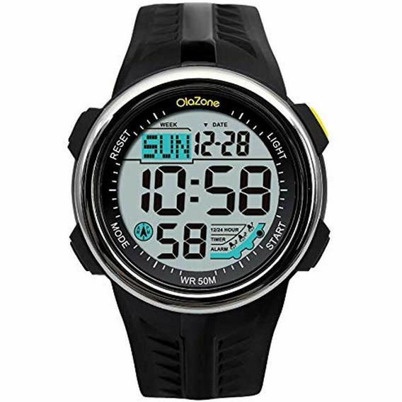 Relógio Olazone Digital Resistente Água Alarme Cronomet