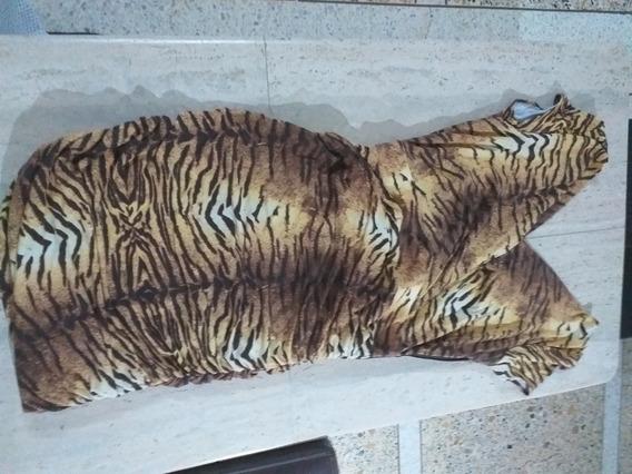 Vestido Para Dama Cocktail Estampado Tigre