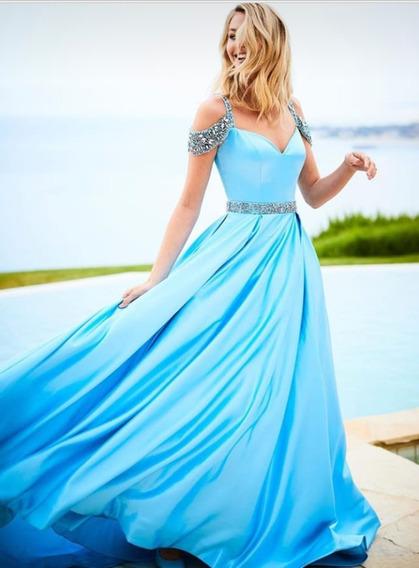 Vestido De Madrinha Azul Celeste