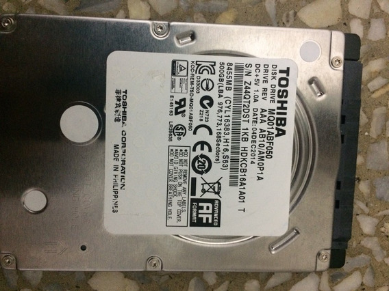 Disco Duro Para Laptop 500gb Toshiba