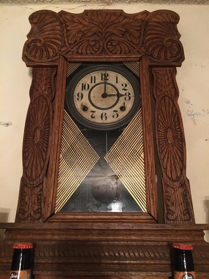 Reloj De Madera Antiguo