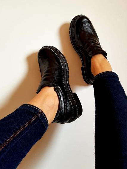 Zapatos Mujer Con 2 Cierre Plataforma Baja Nuevos Colores