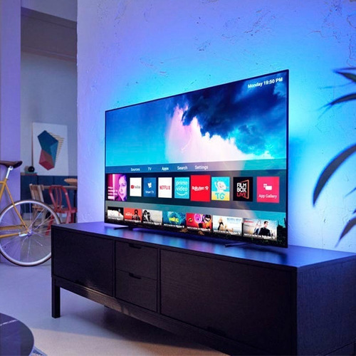 Android Tv Philips Oled 873 /77 4k Hdr Ambilight 55 No LG Cx
