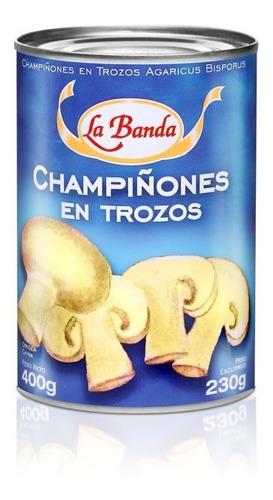 Champiñon Trozos. 400 Grs. La Banda