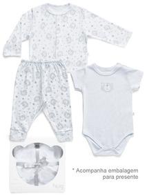 Kit Cardigan + Body Curto+calça Meu Primeiro Abraço Kit30507