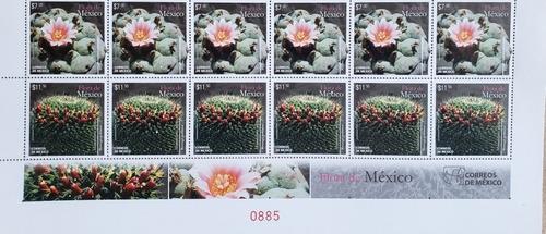 Imagen 1 de 1 de México 2015 : Flora Endémica , Cactus Y Biznagas , Flores